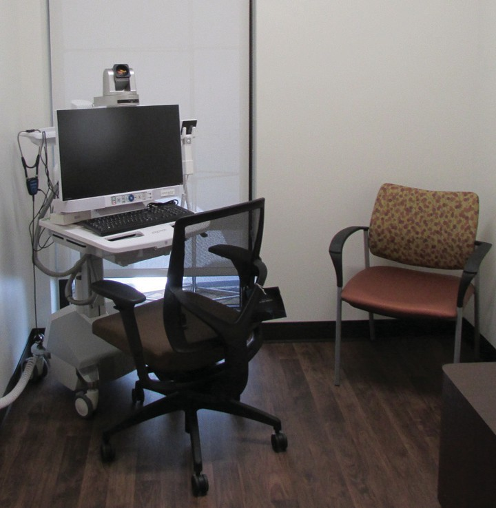 The primary care clinic features six exam rooms, a procedure room and telemedicine station.