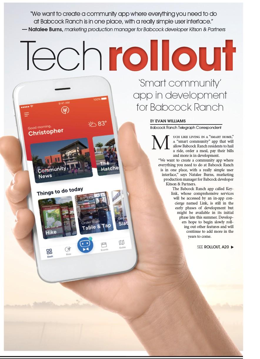 Tech rollout   Babcock Ranch Telegraph