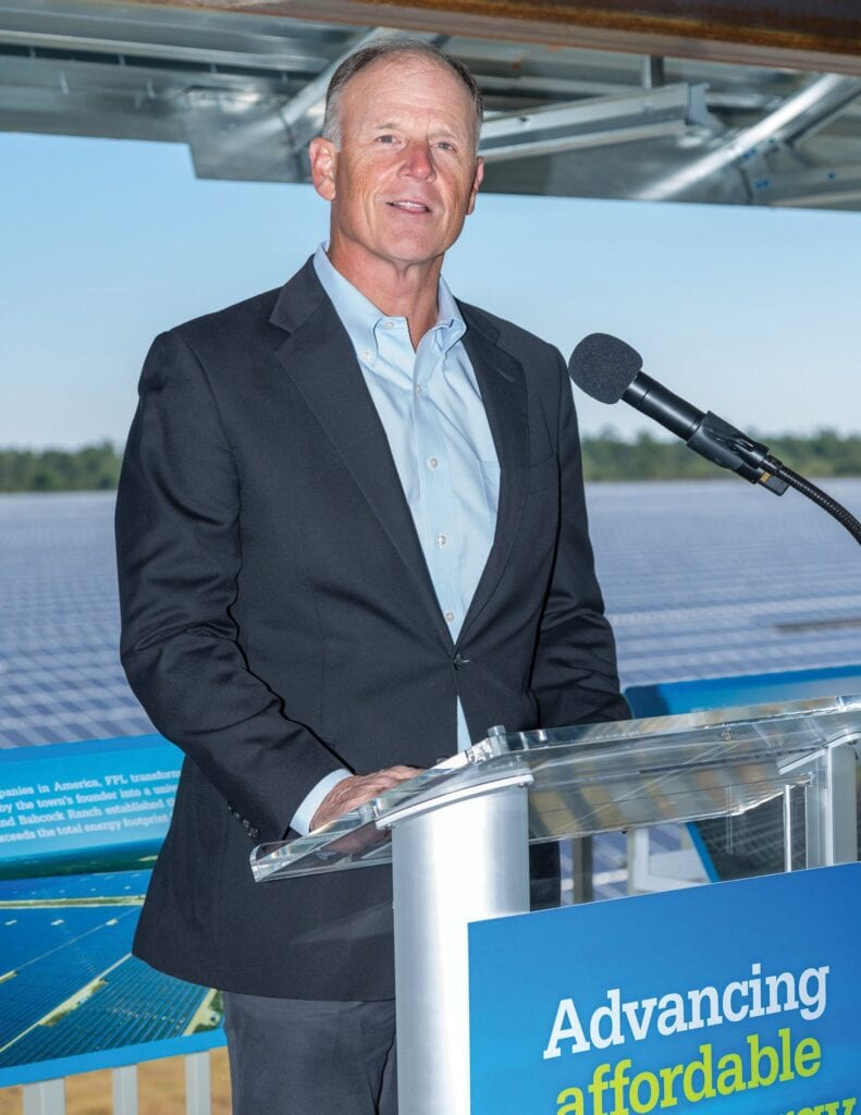 Syd Kitson, Kitson & Partners president and CEO, at the 75-megawatt FPL Babcock Ranch Solar Energy Center that was completed in 2016. VANDY MAJOR / BABCOCK RANCH TELEGRAPH